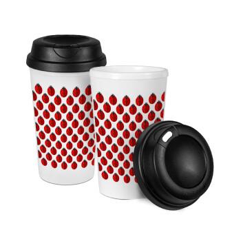 Πασχαλίτσα, Κούπα ταξιδιού πλαστικό (BPA-FREE) με καπάκι βιδωτό, διπλού τοιχώματος (θερμό) 330ml (1 τεμάχιο)