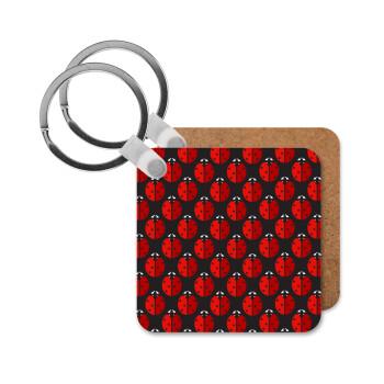 Πασχαλίτσα, Μπρελόκ Ξύλινο τετράγωνο MDF 5cm (3mm πάχος)