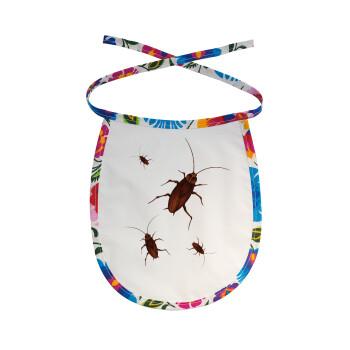 Κατσαρίδα, Σαλιάρα μωρού αλέκιαστη με κορδόνι Χρωματιστή