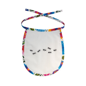 Μυρμήγκια, Σαλιάρα μωρού αλέκιαστη με κορδόνι Χρωματιστή