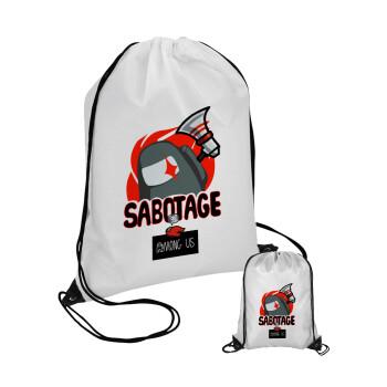 Among US Sabotage, Τσάντα πουγκί με μαύρα κορδόνια 45χ35cm (1 τεμάχιο)