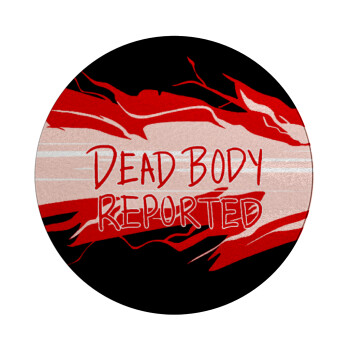 Among US dead body reported, Επιφάνεια κοπής γυάλινη στρογγυλή (30cm)