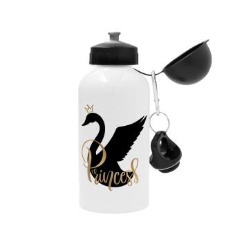 Swan Princess, Μεταλλικό παγούρι ποδηλάτου, Λευκό, αλουμινίου 500ml
