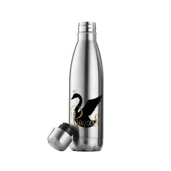 Swan Princess, Μεταλλικό παγούρι θερμός Inox (Stainless steel 304), διπλού τοιχώματος, 500ml