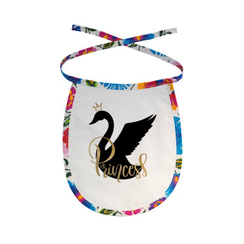 Swan Princess, Σαλιάρα μωρού αλέκιαστη με κορδόνι Χρωματιστή