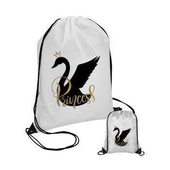 Swan Princess, Τσάντα πουγκί με μαύρα κορδόνια 45χ35cm (1 τεμάχιο)