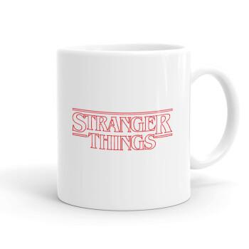 Stranger Things Logo, Κούπα, κεραμική, 330ml (1 τεμάχιο)