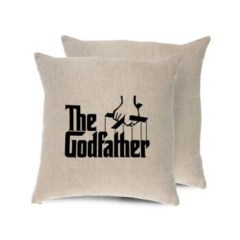 The Godfather, Μαξιλάρι καναπέ ΛΙΝΟ 40x40cm περιέχεται το γέμισμα