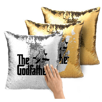 The Godfather, Μαξιλάρι καναπέ Μαγικό Χρυσό με πούλιες 40x40cm περιέχεται το γέμισμα