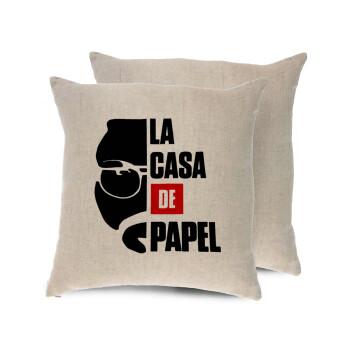 La casa de papel, Μαξιλάρι καναπέ ΛΙΝΟ 40x40cm περιέχεται το γέμισμα