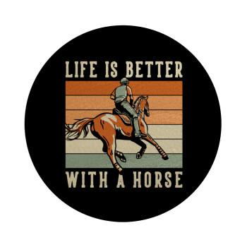Life is Better with a Horse, Επιφάνεια κοπής γυάλινη στρογγυλή (30cm)