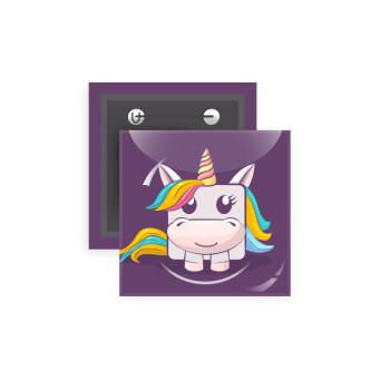 Unicorns cube, Κονκάρδα παραμάνα τετράγωνη 5x5cm