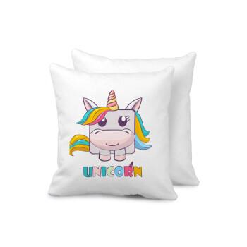 Unicorns cube, Μαξιλάρι καναπέ 40x40cm περιέχεται το γέμισμα