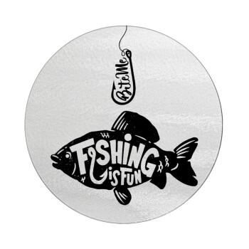 Fishing is fun, Επιφάνεια κοπής γυάλινη στρογγυλή (30cm)