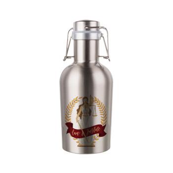 Θέμιδα, Μεταλλικό παγούρι Inox (Stainless steel) με καπάκι ασφαλείας 1L