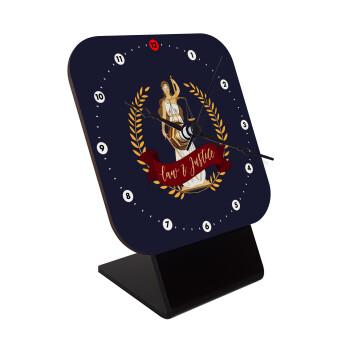 Θέμιδα, Επιτραπέζιο ρολόι ξύλινο με δείκτες (10cm)