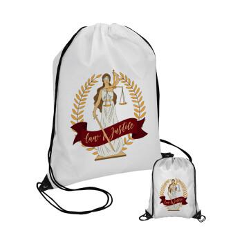 Θέμιδα, Τσάντα πουγκί με μαύρα κορδόνια 45χ35cm (1 τεμάχιο)