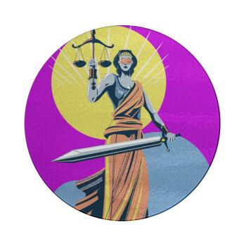 Θέμιδα art style, Επιφάνεια κοπής γυάλινη στρογγυλή (30cm)