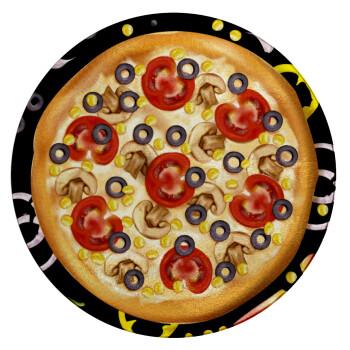 Pizza, Επιφάνεια κοπής γυάλινη στρογγυλή (30cm)