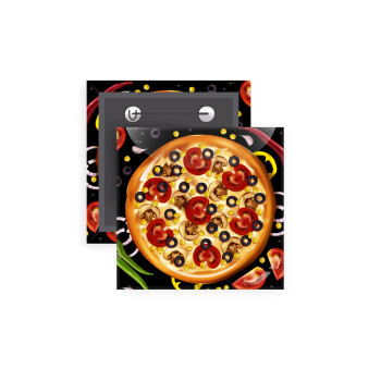 Pizza, Κονκάρδα παραμάνα τετράγωνη 5x5cm