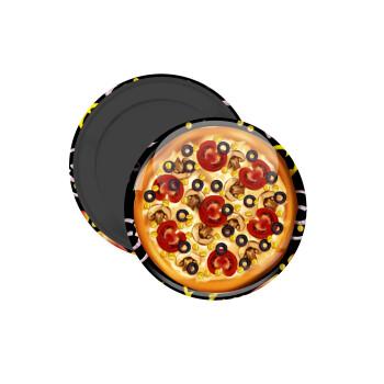 Pizza, Μαγνητάκι ψυγείου στρογγυλό διάστασης 5cm