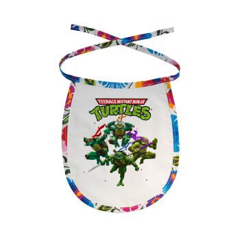 Ninja turtles, Σαλιάρα μωρού αλέκιαστη με κορδόνι Χρωματιστή