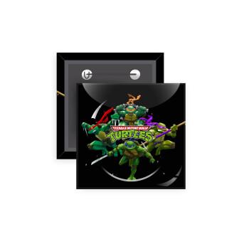 Ninja turtles, Κονκάρδα παραμάνα τετράγωνη 5x5cm