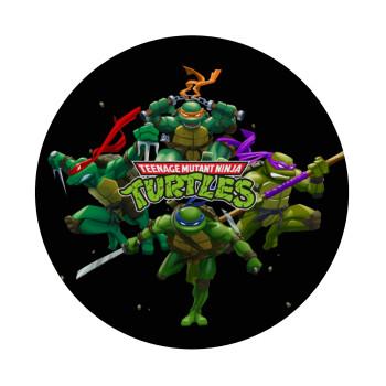 Ninja turtles, Mousepad Στρογγυλό 20cm