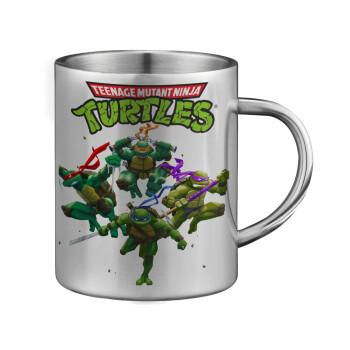 Ninja turtles, Κούπα ανοξείδωτη διπλού τοιχώματος μεγάλη 350ml