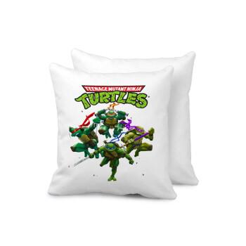 Ninja turtles, Μαξιλάρι καναπέ 40x40cm περιέχεται το γέμισμα