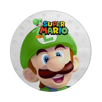 Super mario Luigi, Επιφάνεια κοπής γυάλινη στρογγυλή (30cm)
