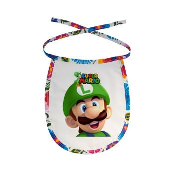 Super mario Luigi, Σαλιάρα μωρού αλέκιαστη με κορδόνι Χρωματιστή