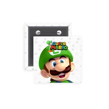 Super mario Luigi, Κονκάρδα παραμάνα τετράγωνη 5x5cm