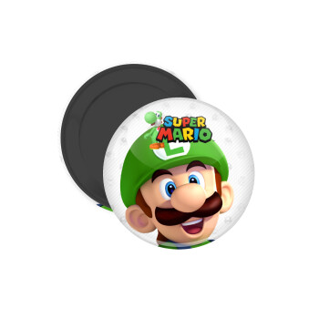 Super mario Luigi, Μαγνητάκι ψυγείου στρογγυλό διάστασης 5cm