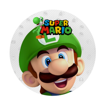 Super mario Luigi, Mousepad Στρογγυλό 20cm
