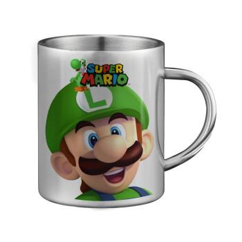 Super mario Luigi, Κούπα ανοξείδωτη διπλού τοιχώματος μεγάλη 350ml