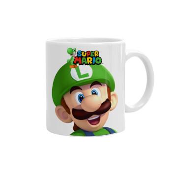Super mario Luigi, Κούπα, κεραμική, 330ml (1 τεμάχιο)