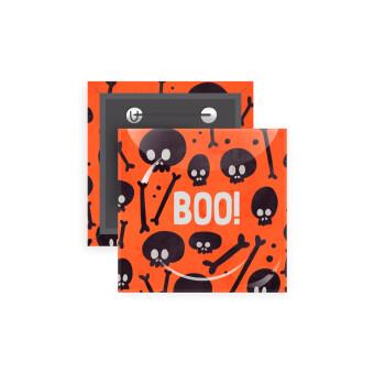 Halloween boo, Κονκάρδα παραμάνα τετράγωνη 5x5cm