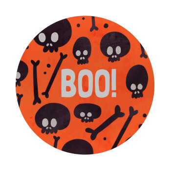 Halloween boo, Mousepad Στρογγυλό 20cm