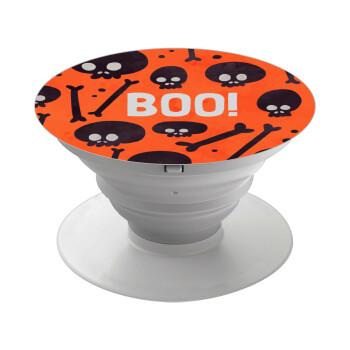Halloween boo, Pop Socket Λευκό Βάση Στήριξης Κινητού στο Χέρι