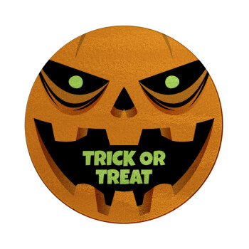 Halloween trick or treat Pumpkins, Επιφάνεια κοπής γυάλινη στρογγυλή (30cm)