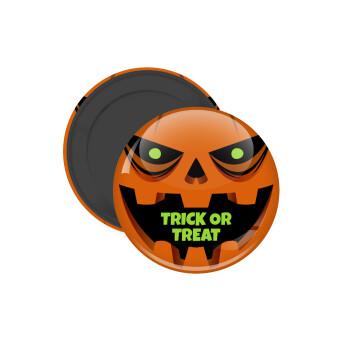 Halloween trick or treat Pumpkins, Μαγνητάκι ψυγείου στρογγυλό διάστασης 5cm