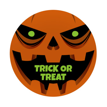 Halloween trick or treat Pumpkins, Mousepad Στρογγυλό 20cm
