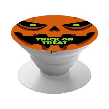 Halloween trick or treat Pumpkins, Pop Socket Λευκό Βάση Στήριξης Κινητού στο Χέρι