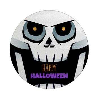 Halloween trick or treat Skeleton, Επιφάνεια κοπής γυάλινη στρογγυλή (30cm)