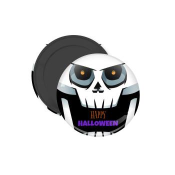 Halloween trick or treat Skeleton, Μαγνητάκι ψυγείου στρογγυλό διάστασης 5cm