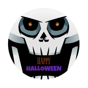 Halloween trick or treat Skeleton, Mousepad Στρογγυλό 20cm