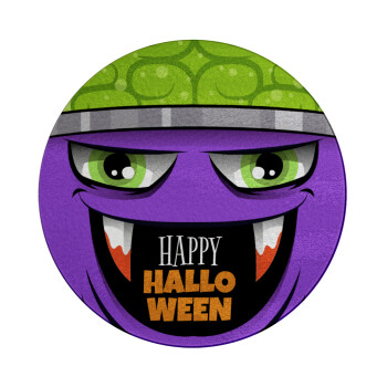 Halloween trick or treat Monster, Επιφάνεια κοπής γυάλινη στρογγυλή (30cm)