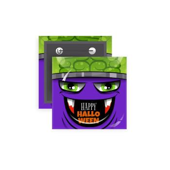 Halloween trick or treat Monster, Κονκάρδα παραμάνα τετράγωνη 5x5cm