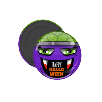 Halloween trick or treat Monster, Μαγνητάκι ψυγείου στρογγυλό διάστασης 5cm